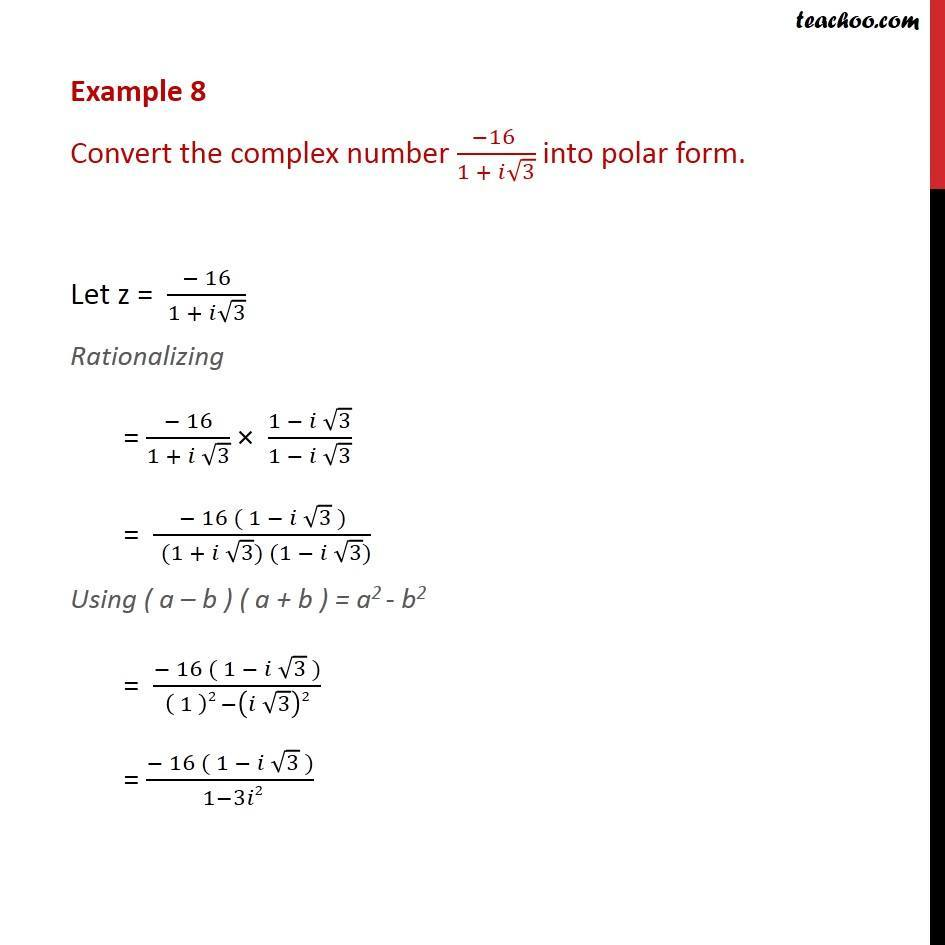 what is a complex number example