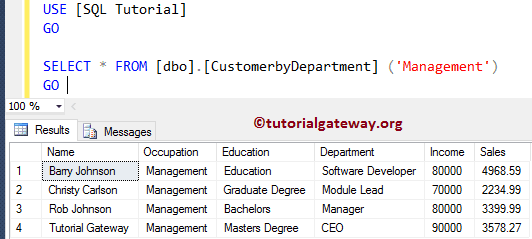 user defined functions in sql example