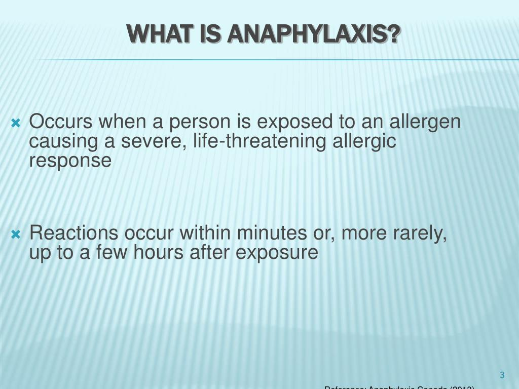 anaphylactic shock is an example of an