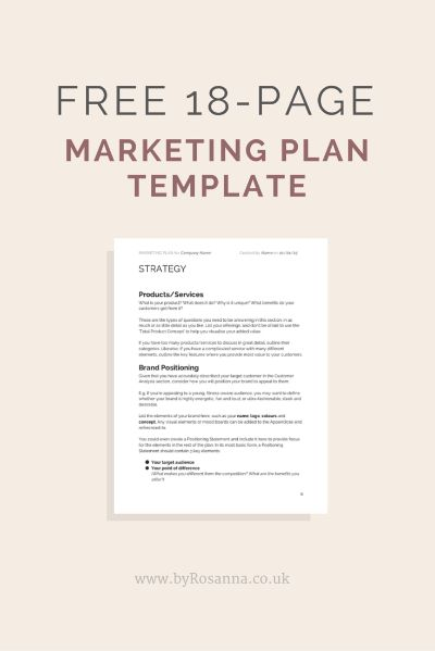business plan contents page example