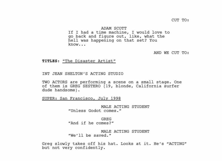 example of a script with no dialogue
