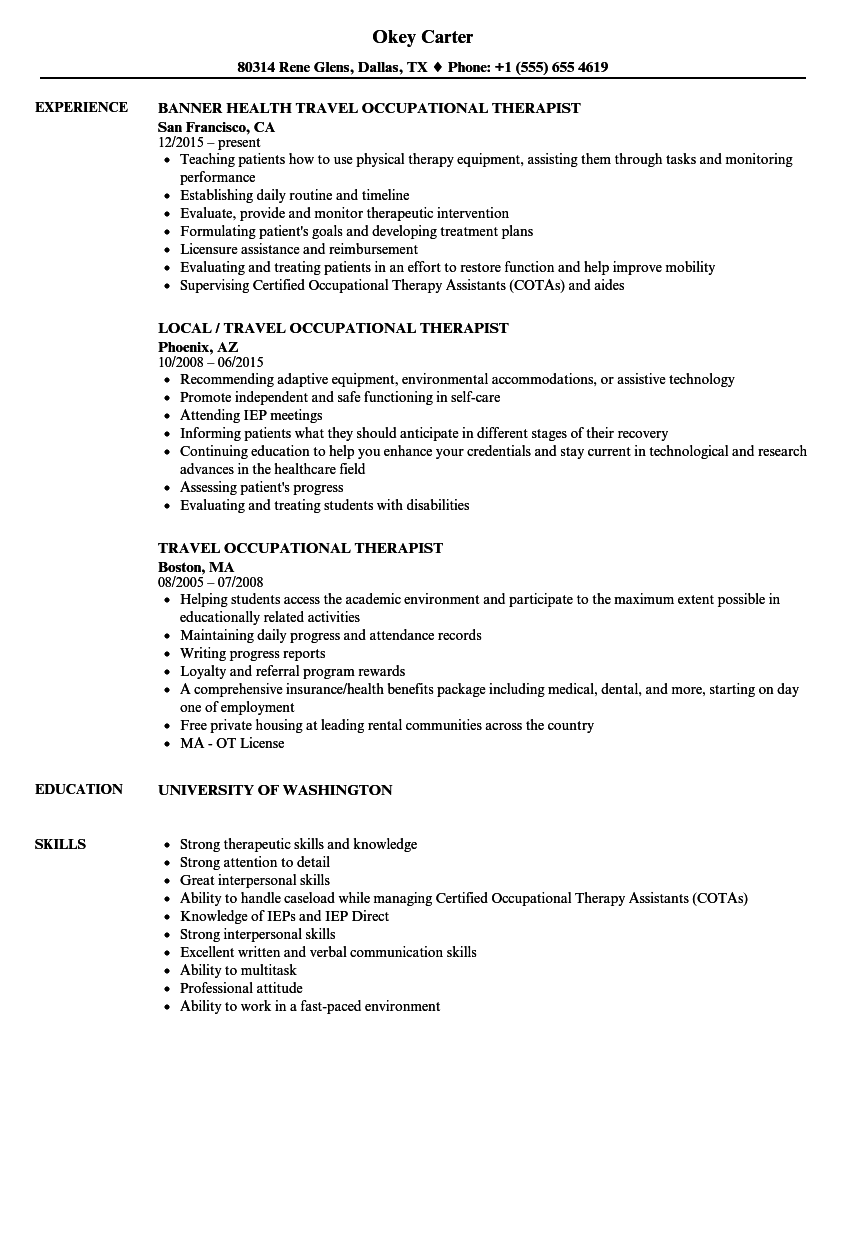 example of occupational therapy treatment plan
