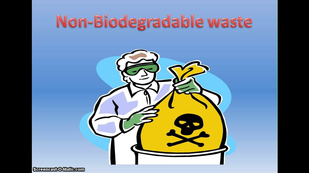 what are non biodegradable materials with example