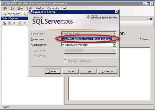 c sql connection string example instance