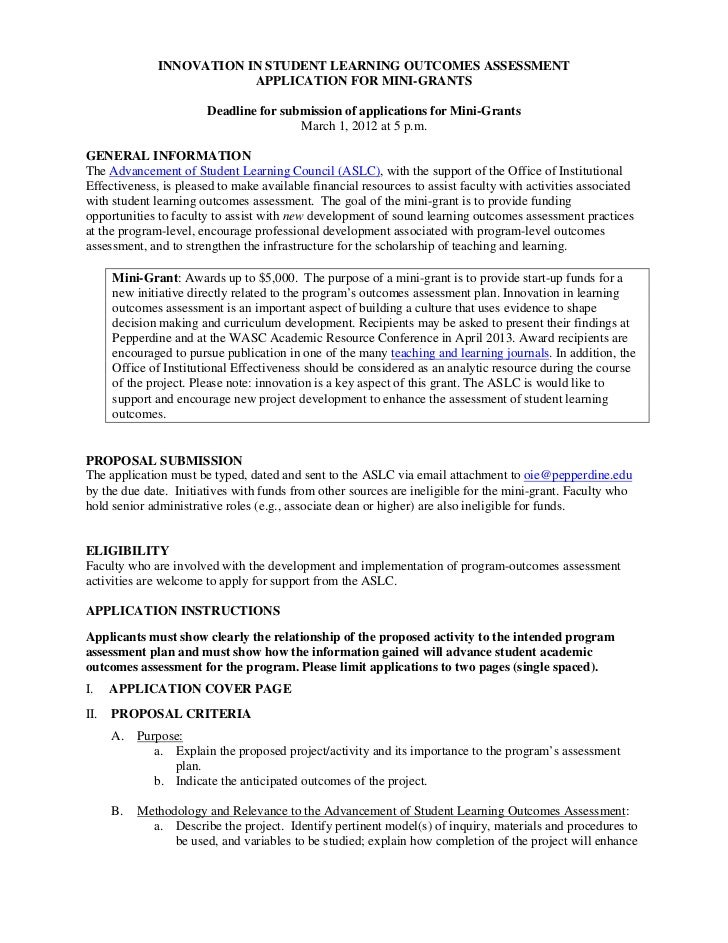 example of grant proposal graduate student