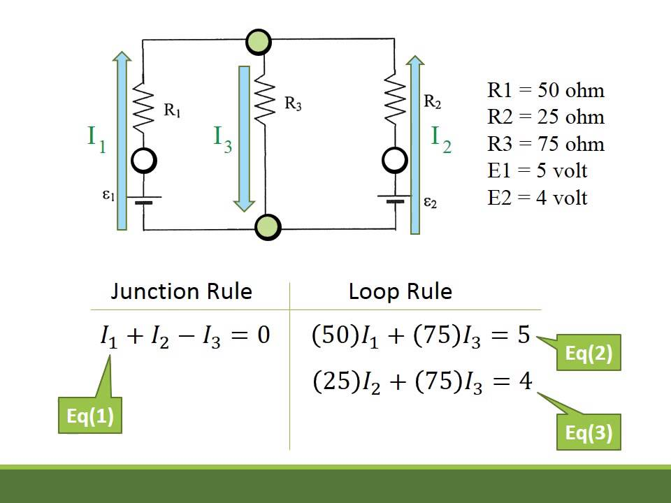 kirchoffs law example with no solution