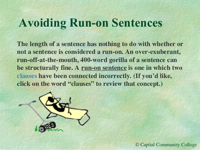 example of live on sentence