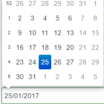 bootstrap datepicker date range example