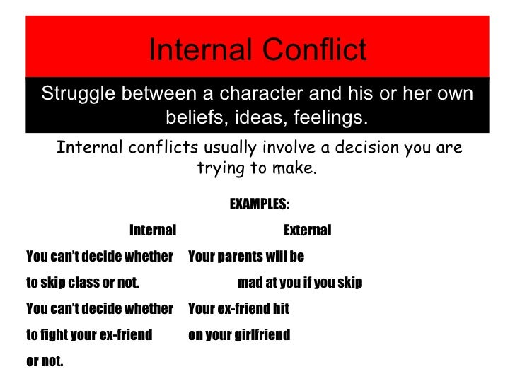 which is an example of conflict