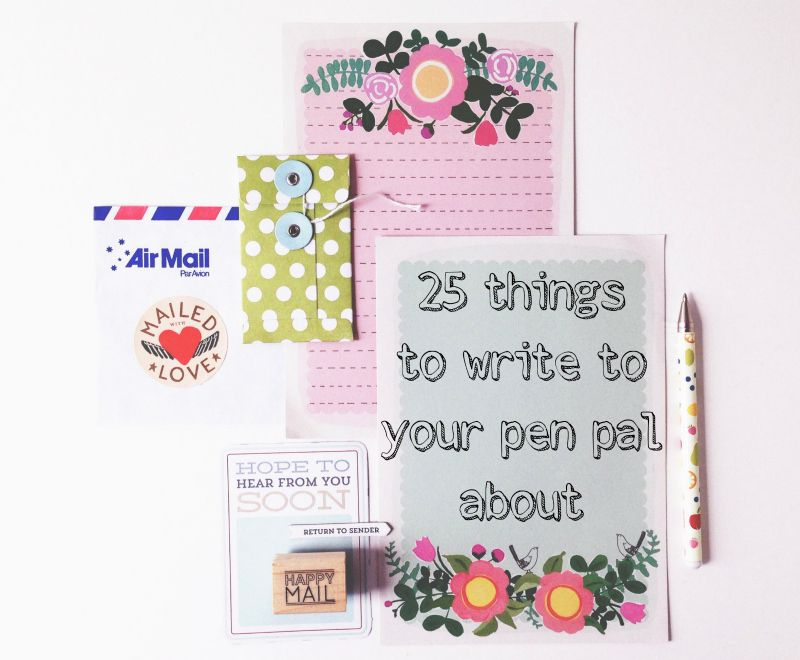 french pen pal letter example