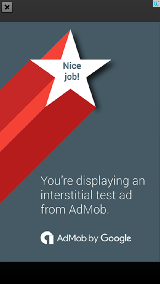 admob full screen ads android example