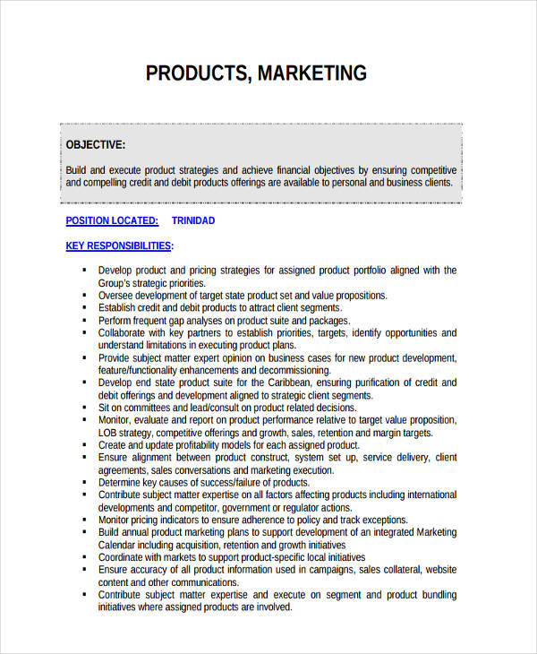 example of marketing strategy for a product