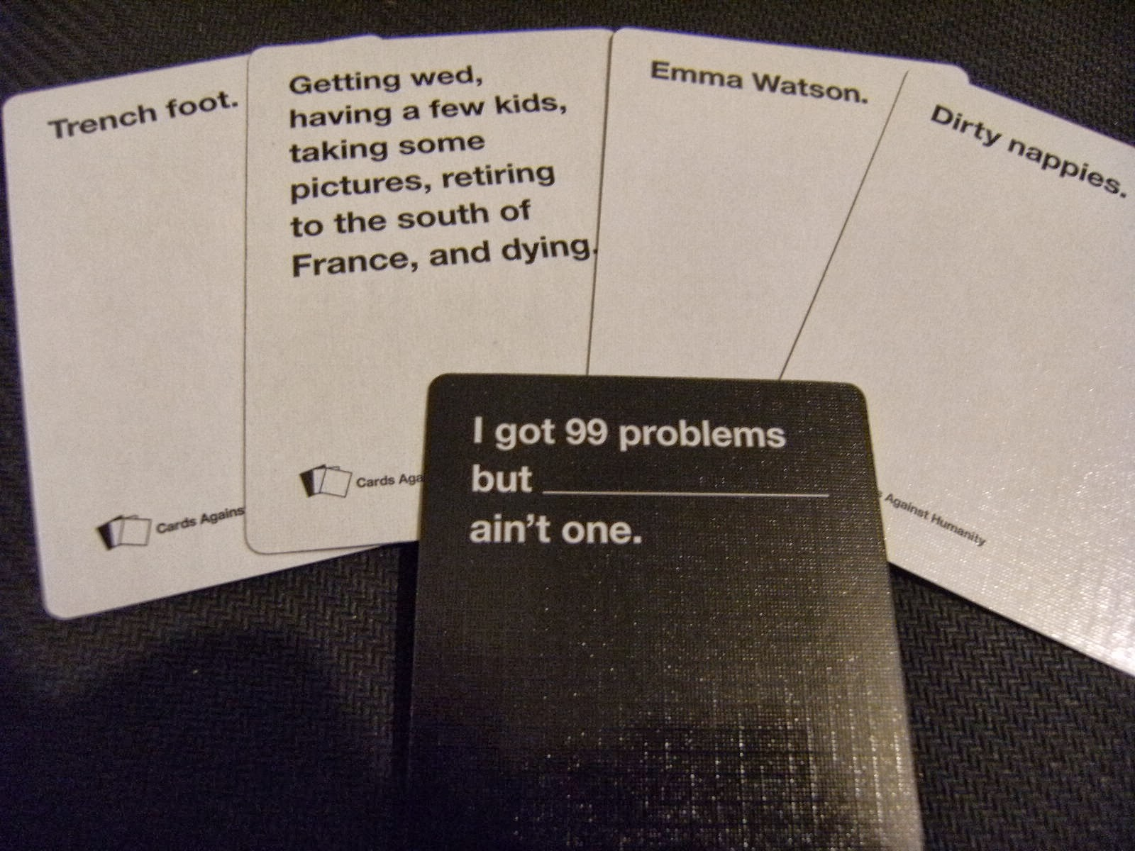 against humanity card game example