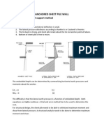 anchored sheet pile wall design example