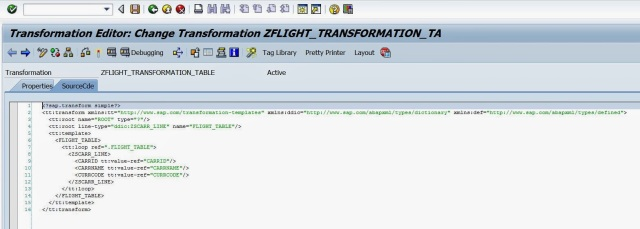 call transformation abap to xml example