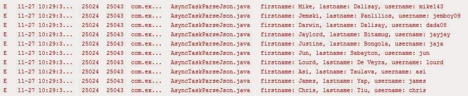 json parser in c example