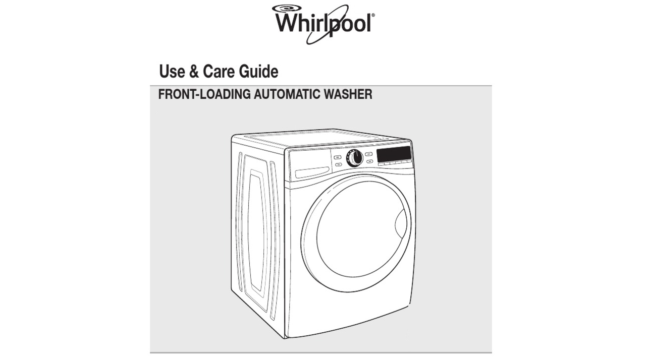 example of an appliance manual