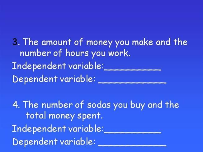 example of dependent variable in statistics