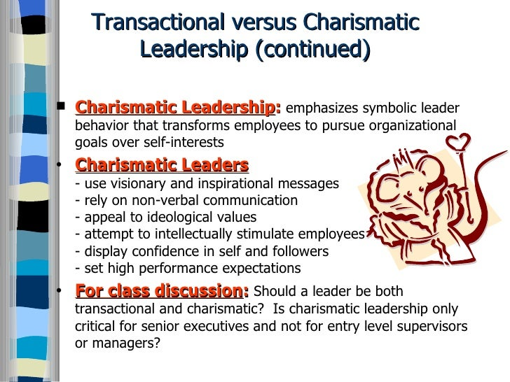 example of transactional leader in business