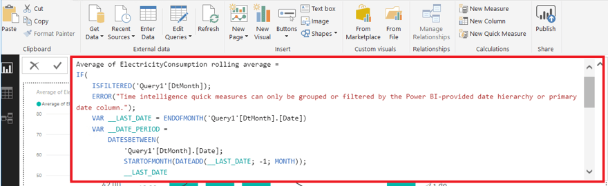 power bi relative rolling month example