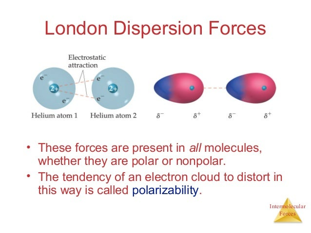 what is london dispersion forces example